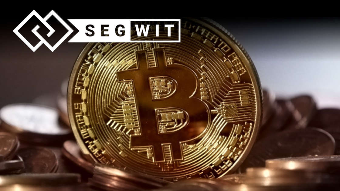 Physical Bitcoin with Segwit logo