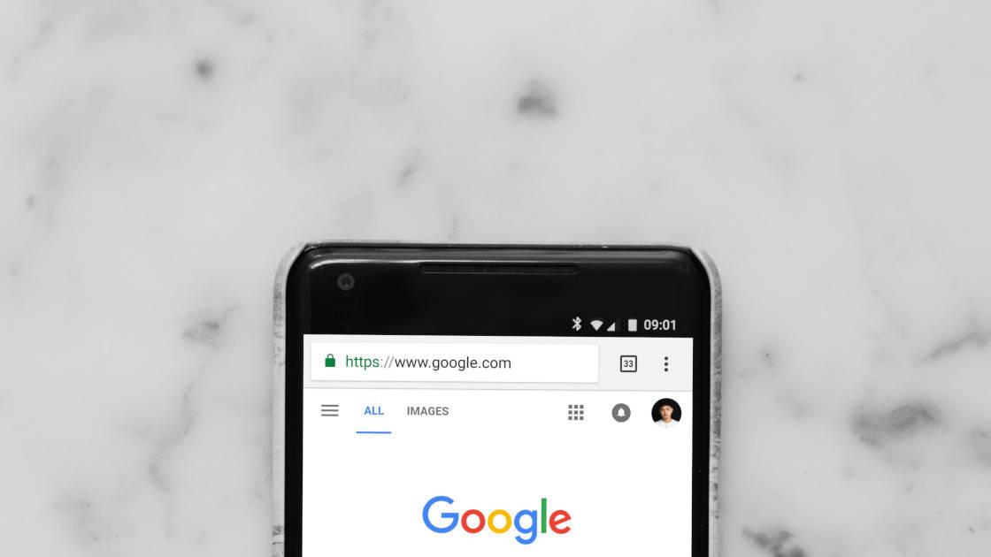 Google in the URL bar