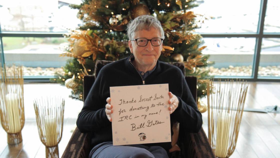 Bill Gates thanking his Secret Santa