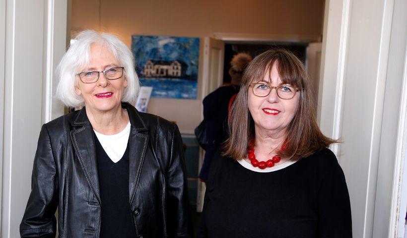 Jóhanna Sigurðardóttir and her partner, Jónína Leósdóttir